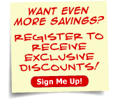Register to receive exclusive discounts!